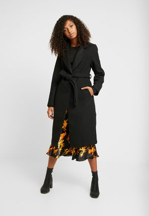GABRIELLE BELTED COAT  - Mantel - black