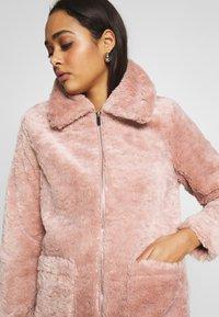 New Look - ISLA PATCH POCKET BORG - Light jacket - pink - 4