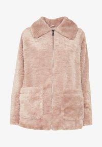 New Look - ISLA PATCH POCKET BORG - Light jacket - pink - 3