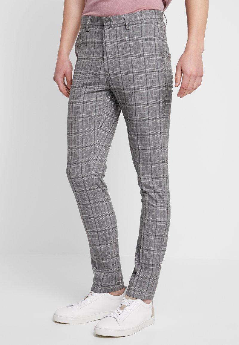 New Look - CHECK TROUSER  - Pantalón de traje - grey