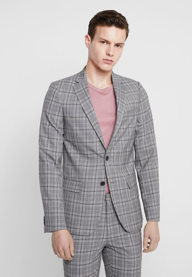 CHECK SKINNY SUIT JACKET - Suit jacket - grey