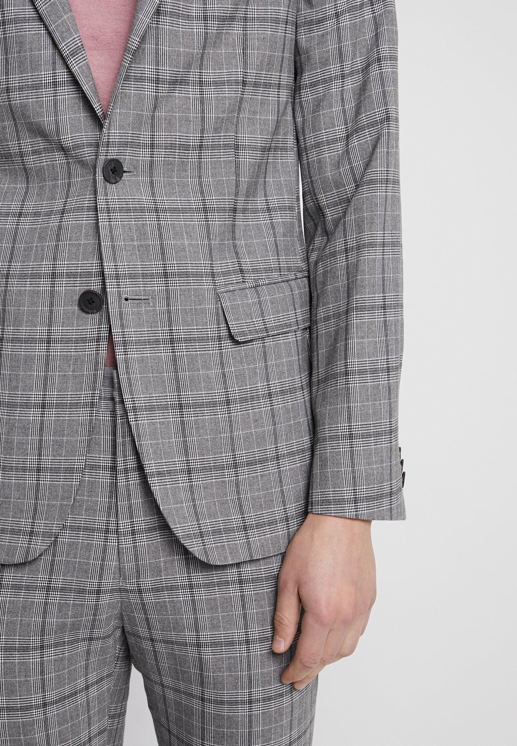 Look Check JacketVeste New Suit De Grey Skinny Costume WEIDe2bH9Y