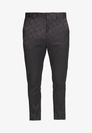 JAY CROP - Pantalon de costume - black