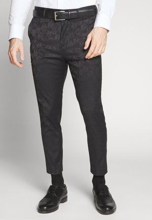 JAY CROP - Suit trousers - black