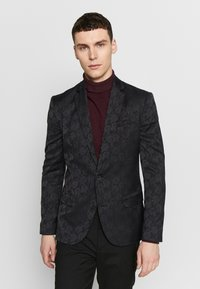 New Look - JAY JAQUARD SKINNY CROP - Sako - black - 0