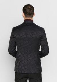 New Look - JAY JAQUARD SKINNY CROP - Sako - black - 2