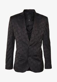 New Look - JAY JAQUARD SKINNY CROP - Sako - black - 4