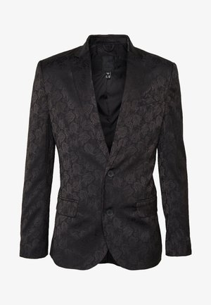 JAY JAQUARD SKINNY CROP - Suit jacket - black