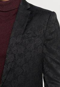 New Look - JAY JAQUARD SKINNY CROP - Sako - black - 5