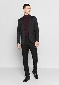 New Look - JAY JAQUARD SKINNY CROP - Sako - black - 1