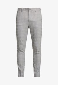 New Look - CHARLES CHECKSUIT - Pantaloni eleganti - light grey - 4