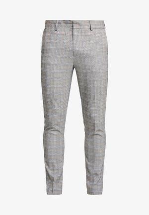 CHARLES CHECKSUIT - Jakkesæt bukser - light grey