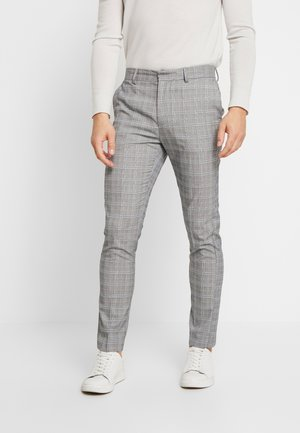 CHARLES CHECKSUIT - Pantaloni eleganti - light grey