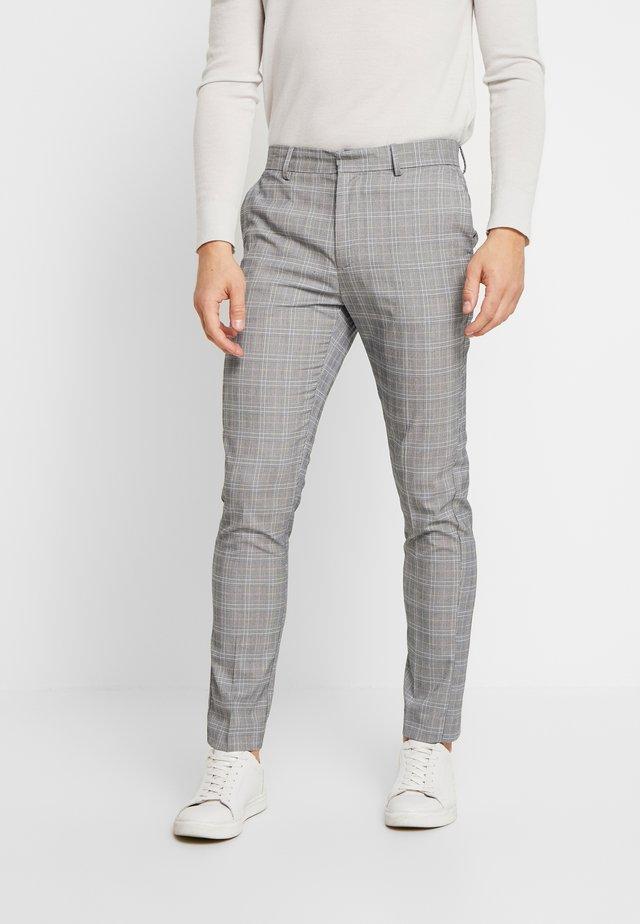 CHARLES CHECKSUIT - Oblekové kalhoty - light grey