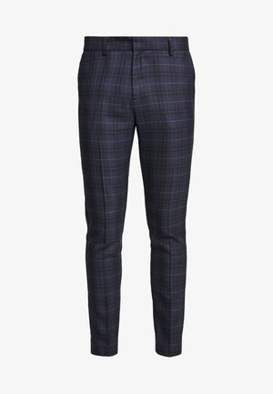 WILLIAM CHECK  - Pantaloni eleganti - navy