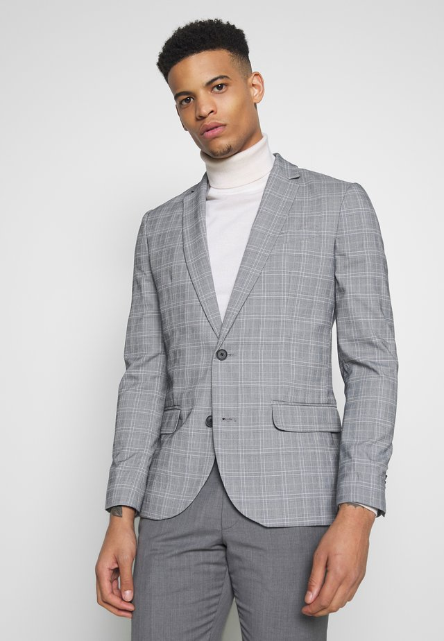 CHARLES CHECKSUIT - Colbert - light grey