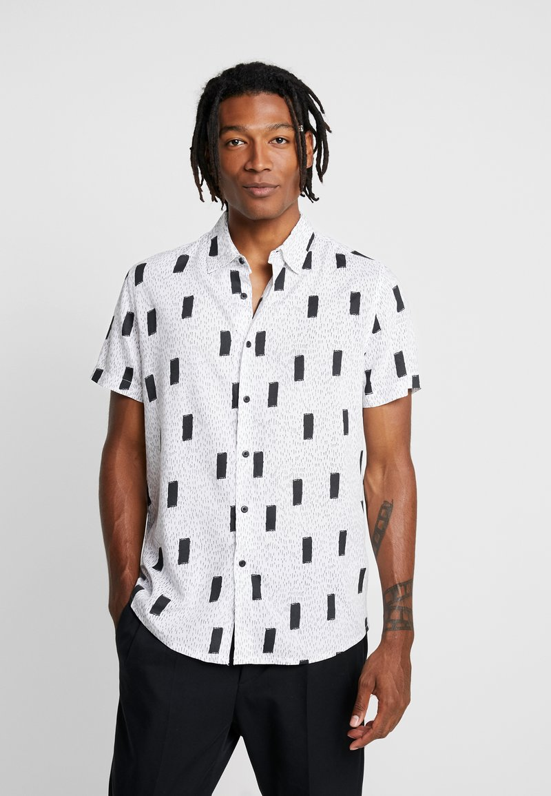 New Look - ABSTRACT GEO  - Shirt - white pattern