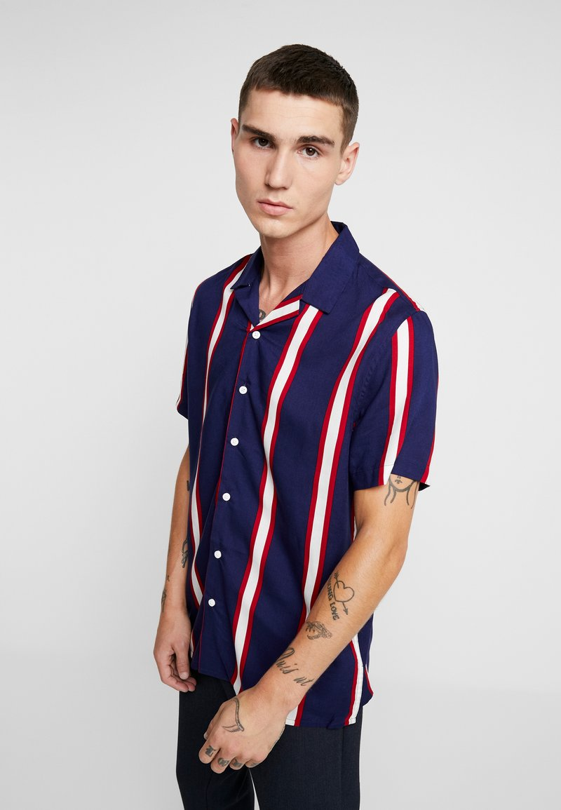 New Look - VERTICAL STRIPE - Shirt - navy