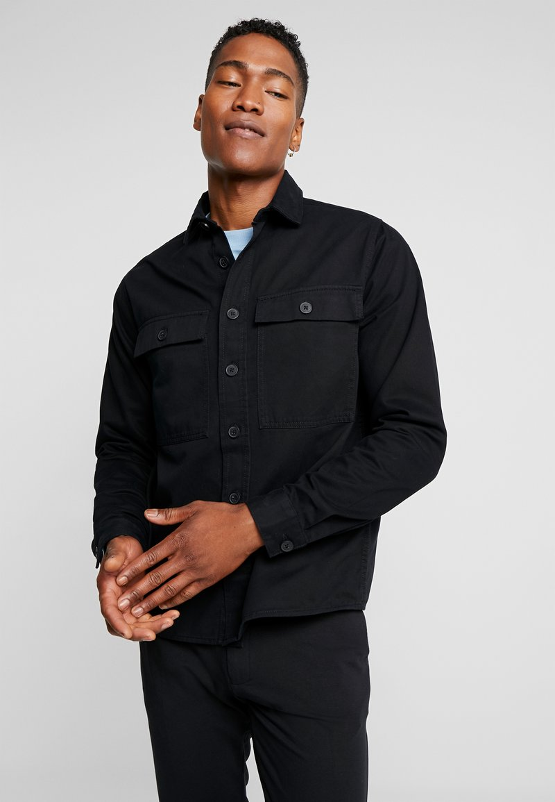 New Look - DOUBLE POCKET OVERSHIRT - Shirt - black