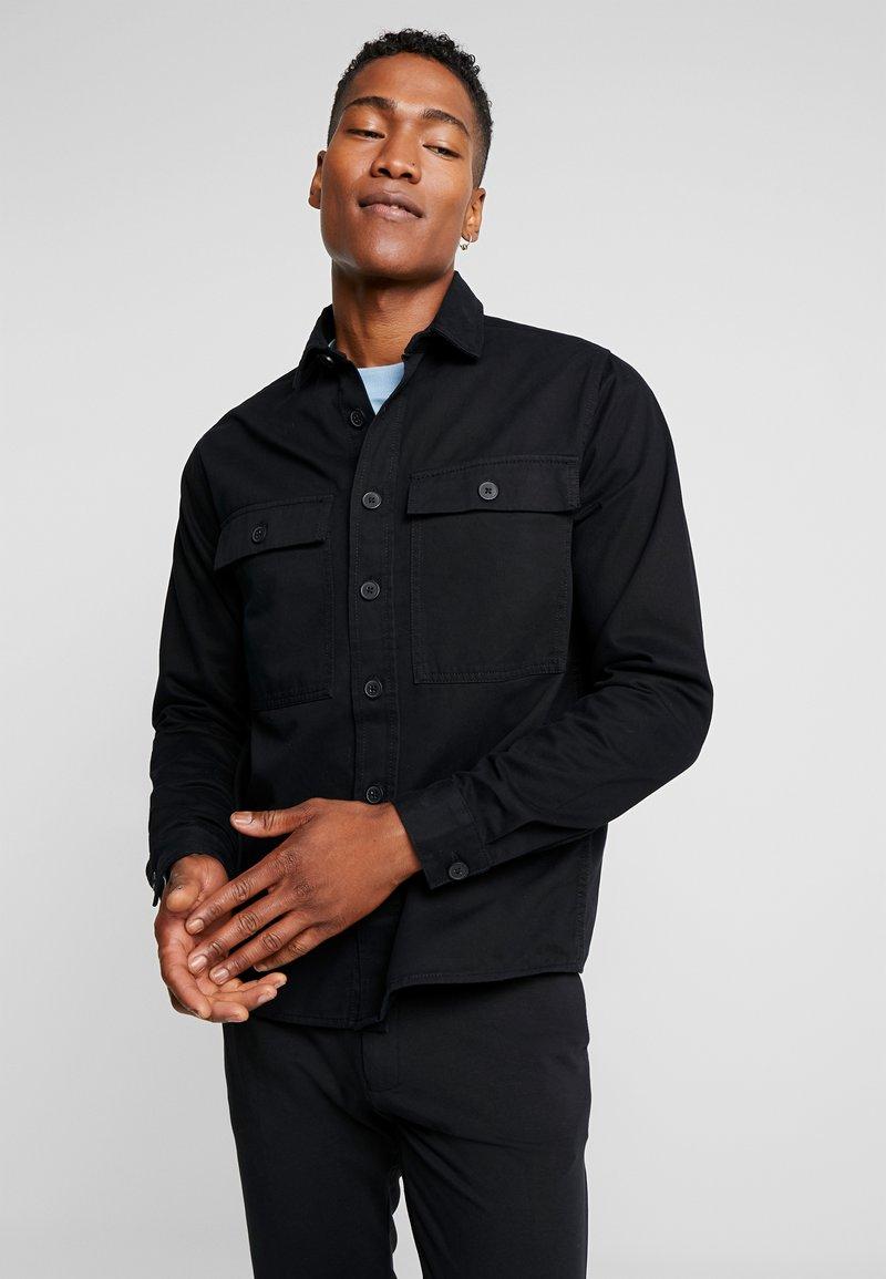 New Look - DOUBLE POCKET OVERSHIRT - Skjorter - black