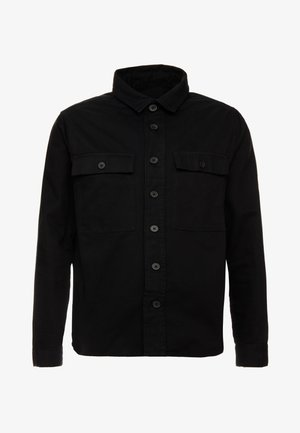 DOUBLE POCKET OVERSHIRT - Košile - black