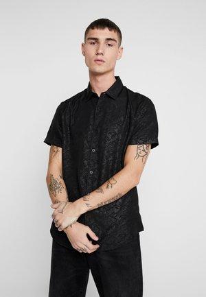 SATEEN SIMON PRINT - Skjorte - black