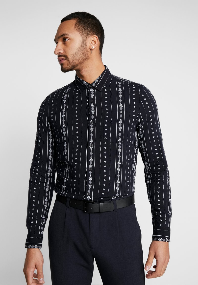 New Look - RPASO SOFIA TRIBAL STRIPE - Shirt - black