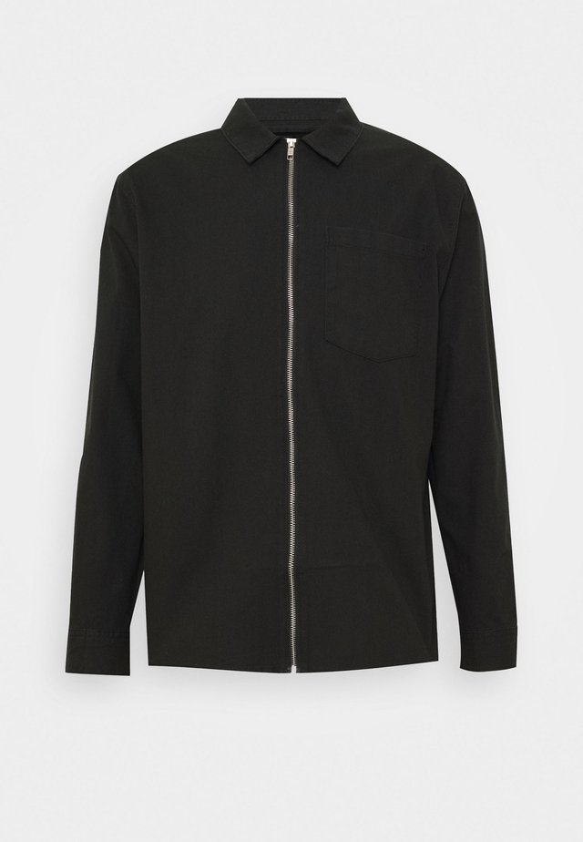 ZIP THRU  - Hemd - black