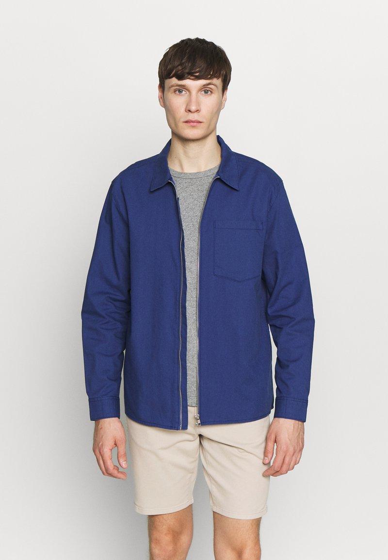 New Look - ZIP THRU SHACKET - Overhemd - indigo