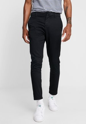 PLAIN CROP - Pantalones chinos - black