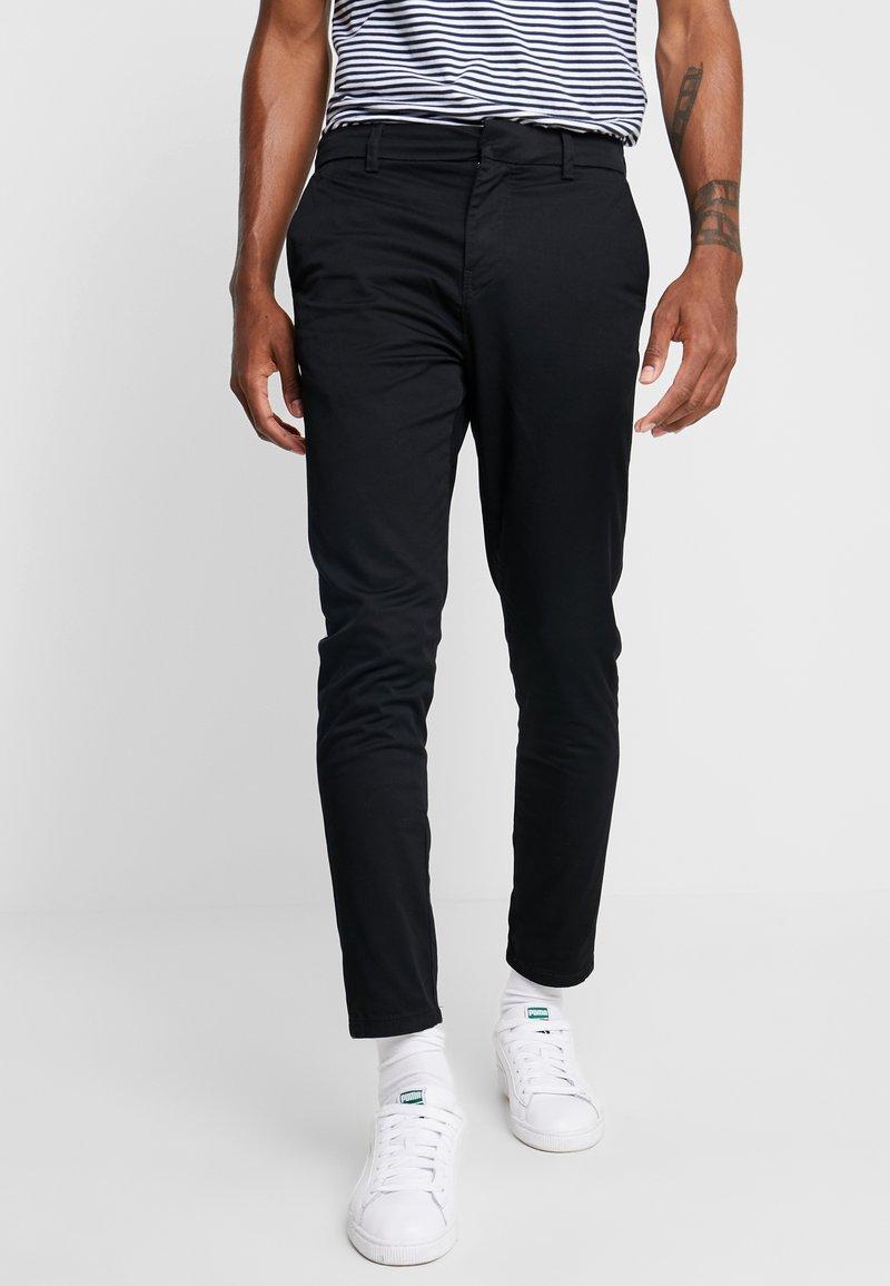 New Look - PLAIN CROP - Chinos - black