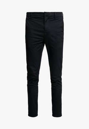 PLAIN CROP - Chino - black