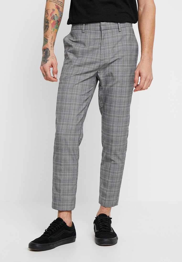 New Look - COMMERCIAL POW CROP  - Pantaloni - grey pattern