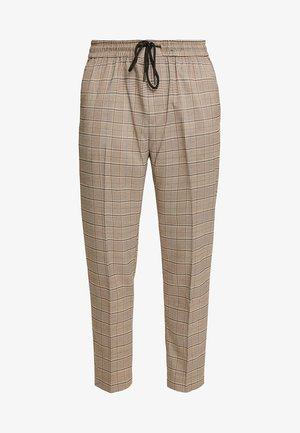 BRUCE CHECK PULL ON - Broek - brown