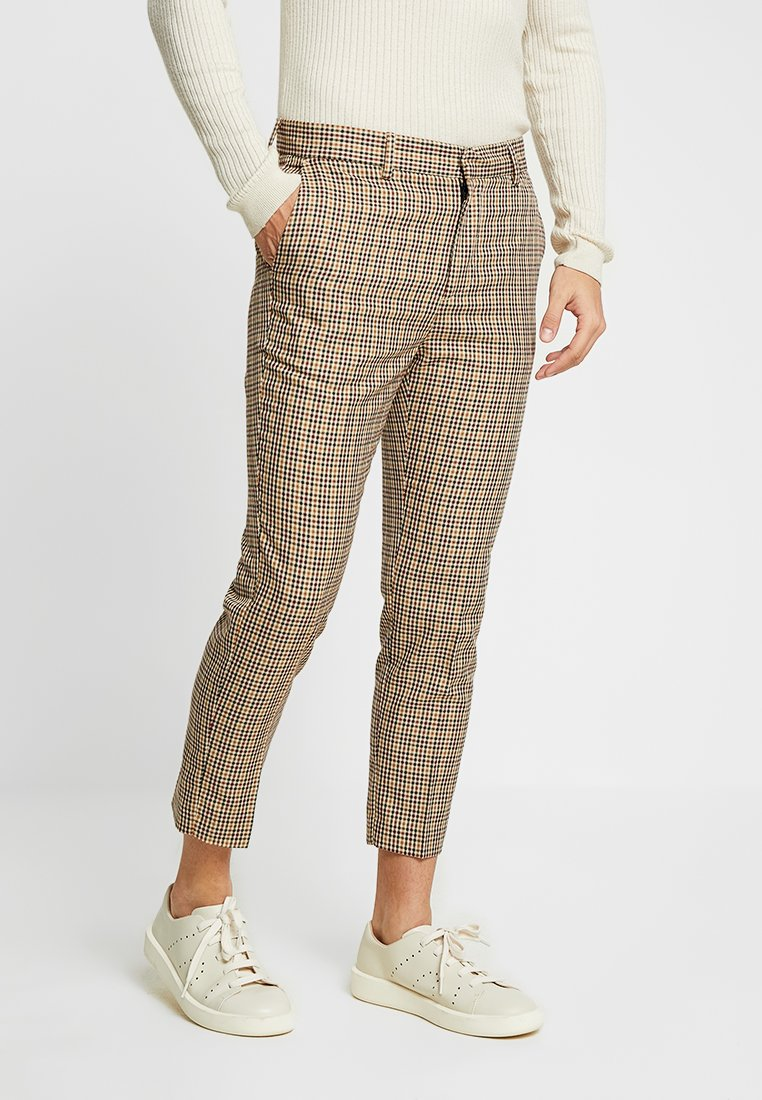 New Look - GINGER GINGHAM PULL ON - Pantaloni - brown patten