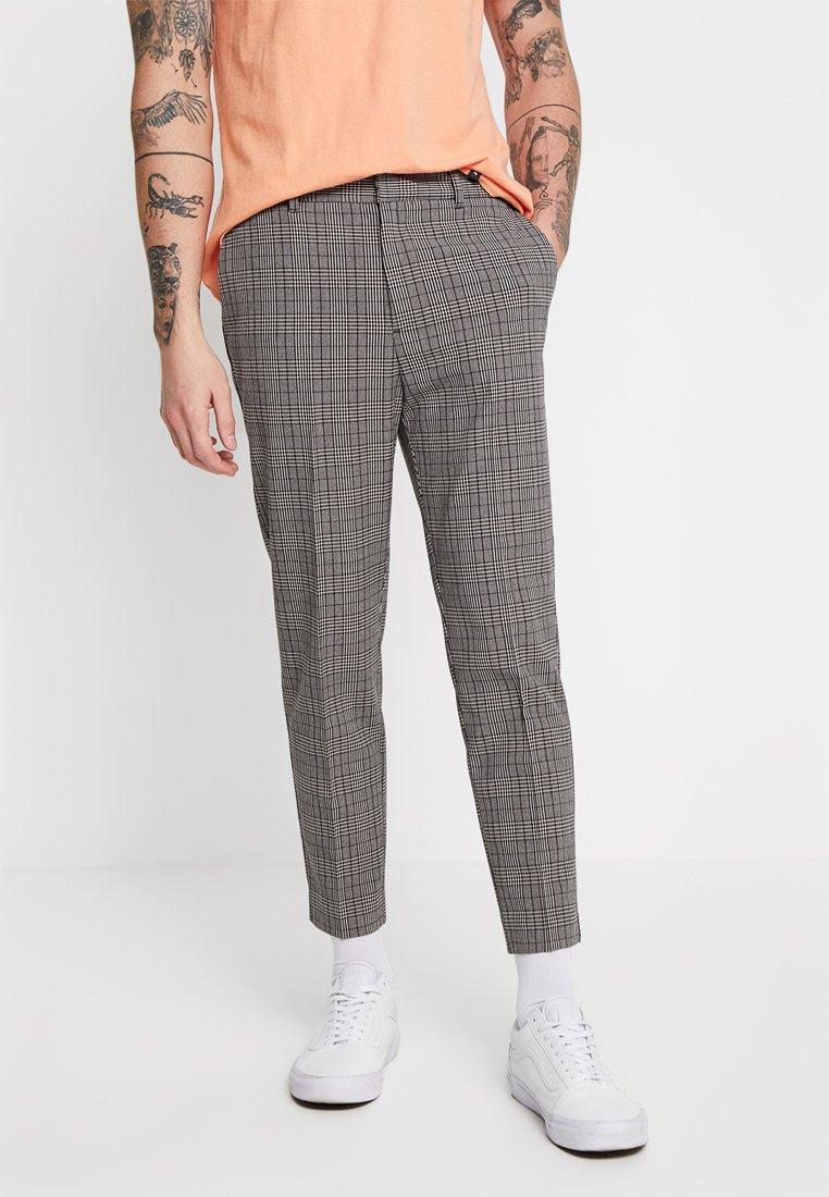 New Look - ESSEX CHECK CROP - Pantaloni - brown