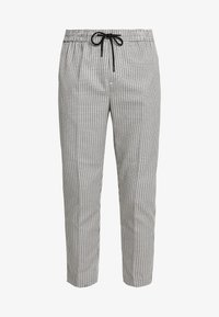 New Look - PHILIP GINGHAM PULL ON - Trousers - stone - 4