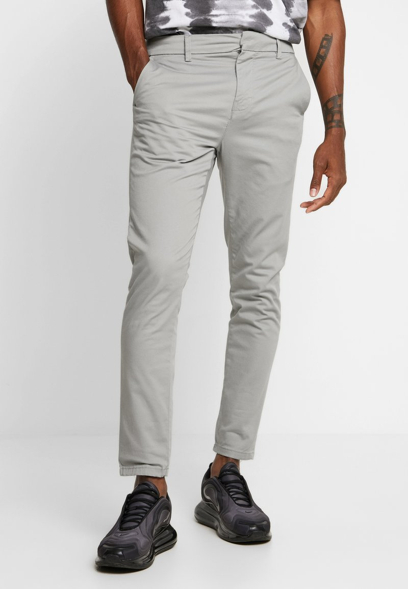 New Look - PLAIN TROUSER - Chinos - light grey