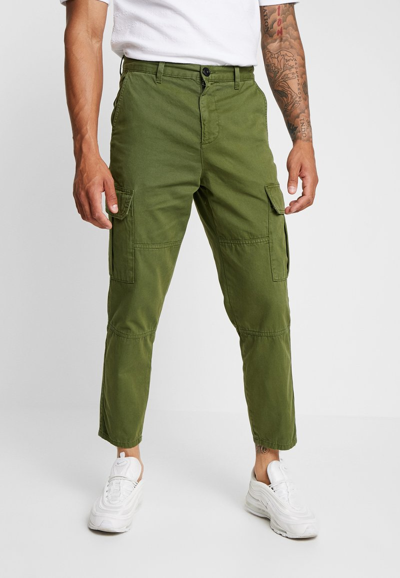 New Look - WASHED COMBAT - Cargo trousers - khaki