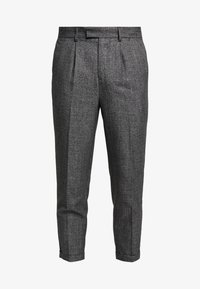New Look - TEXTURE PLEAT FRONT TROUSER - Pantalon classique - dark grey