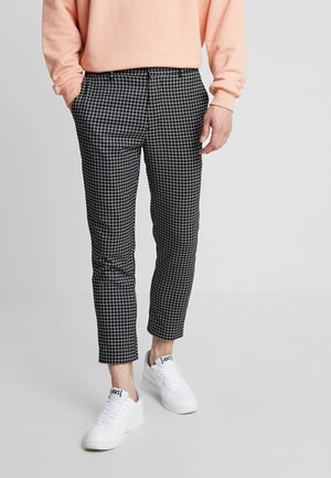 MINI GRID TROUSER - Bukse - black