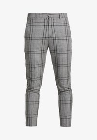 New Look - LARGE SCALE CHECK SKINNY TROUSER - Trousers - mid grey - 3