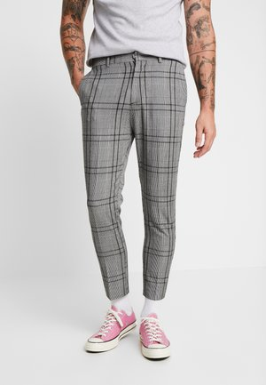 LARGE SCALE CHECK SKINNY TROUSER - Kalhoty - mid grey