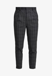 New Look - GEORGE HIGHLIGHT CHECK - Trousers - dark grey - 3