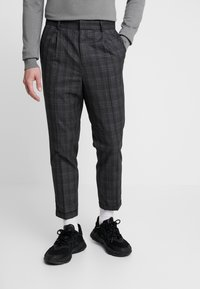 New Look - GEORGE HIGHLIGHT CHECK - Trousers - dark grey - 0