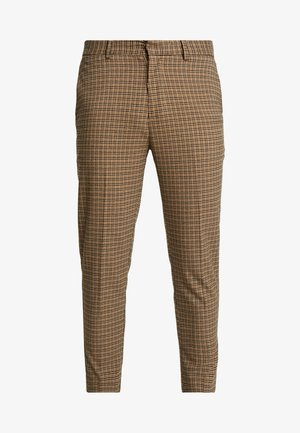 ARCHIE MINI CHECK  - Trousers - camel
