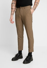 New Look - ARCHIE MINI CHECK  - Pantaloni - camel - 0