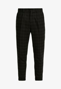 New Look - HARRISON TARTAN  - Trousers - black - 4