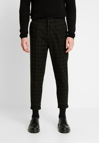 New Look - HARRISON TARTAN  - Trousers - black - 0