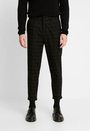 HARRISON TARTAN  - Kalhoty - black